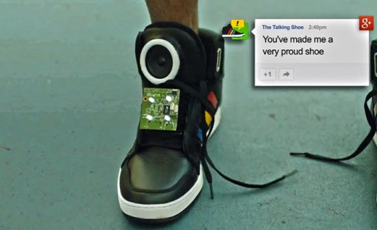 Google's Talking Shoe