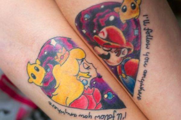 Mario gets the princess tattoo