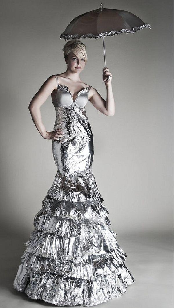 The Aluminum foil gown