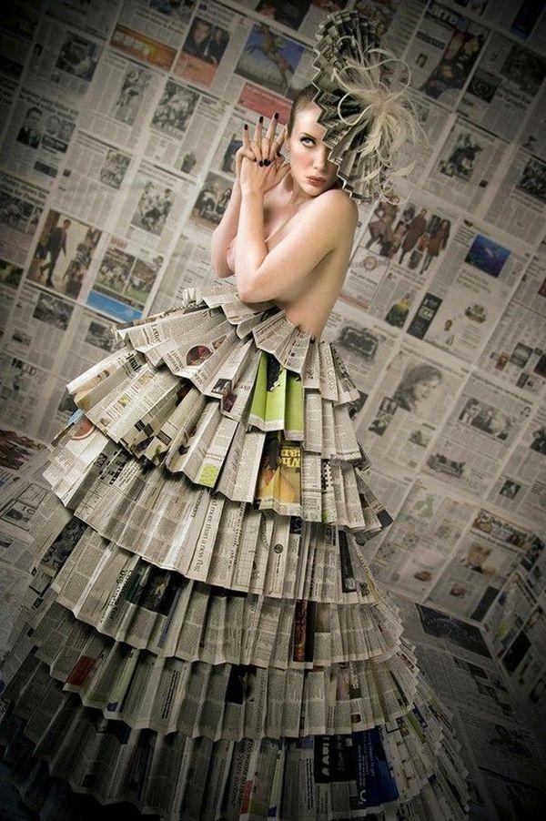 The newspaper dress