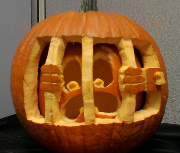 A Pumpkin in a pumpkin jail