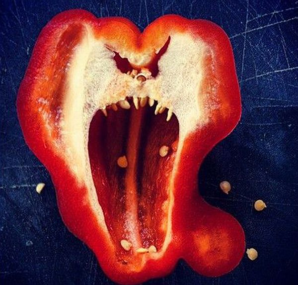 Horrified capsicum