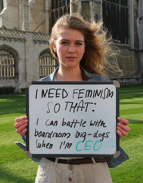 """I need feminism because…"""