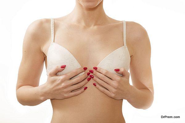 small breasts in white bra