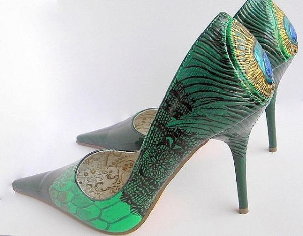 The peacock shoes