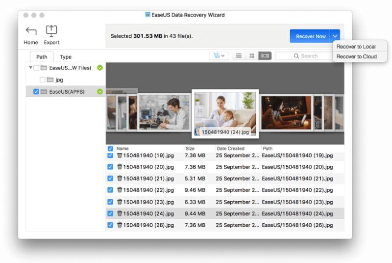 makesEaseUS mac data recovery